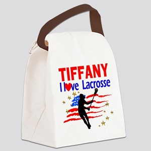 LACROSSE PLAYER Canvas Lunch Bag