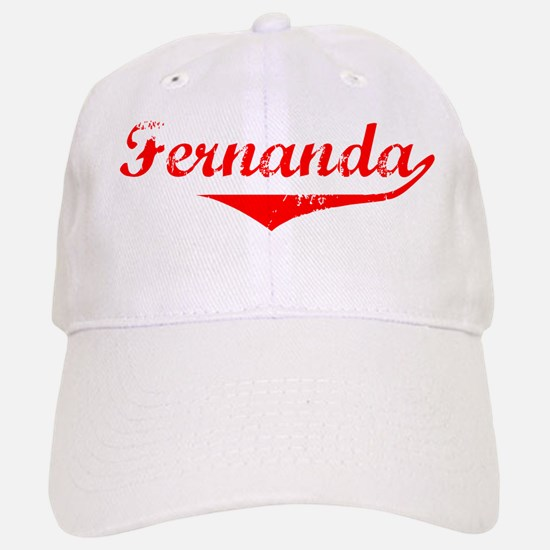 Fernanda Vintage (Red) Baseball Baseball Cap