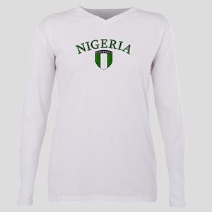 Nigerian Soccer Plus Size Long Sleeve Tee