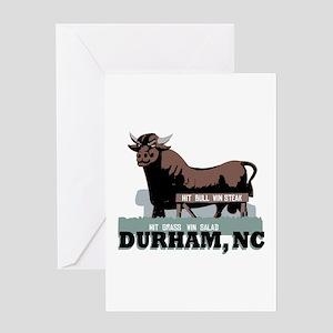 Durham NC Bull Greeting Cards