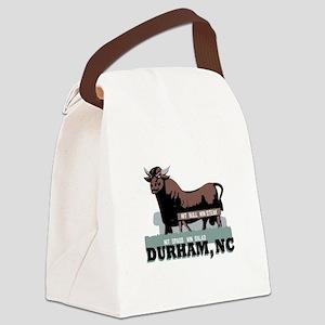 Durham NC Bull Canvas Lunch Bag