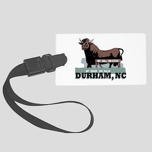 Durham NC Bull Luggage Tag