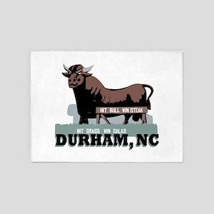 Durham NC Bull 5'x7'Area Rug