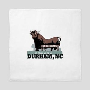 Durham NC Bull Queen Duvet