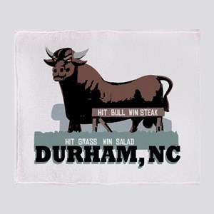 Durham NC Bull Throw Blanket