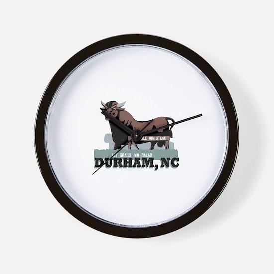 Durham NC Bull Wall Clock