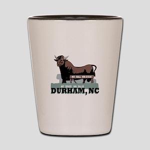 Durham NC Bull Shot Glass