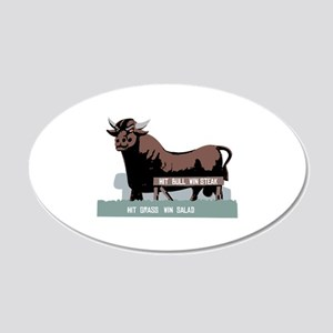 Durham NC Bull Wall Decal