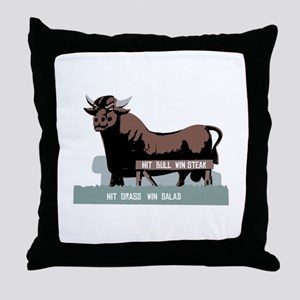 Durham NC Bull Throw Pillow
