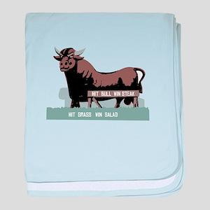 Durham NC Bull baby blanket
