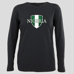 Nigerian football Plus Size Long Sleeve Tee