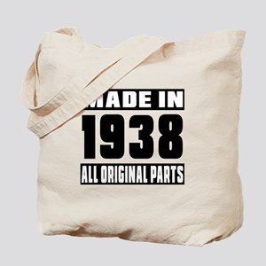 Made In 1938 Tote Bag