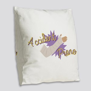 Accident Prone Burlap Throw Pillow
