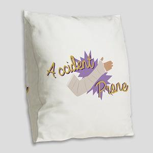 Accident Prone Burlap Throw Pillow