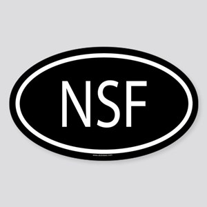 NSF Oval Sticker
