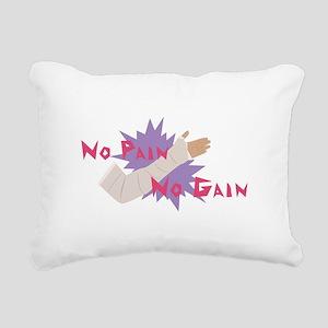 No Pain No Gain Rectangular Canvas Pillow