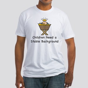 STABLE BACKGROUND Fitted T-Shirt