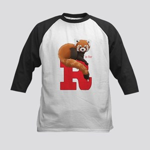 R Is For Red Panda Kids Tee Baseball Jersey