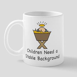 STABLE BACKGROUND Mug
