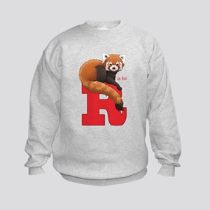 R Is For Red Panda Kids Sweatshirt