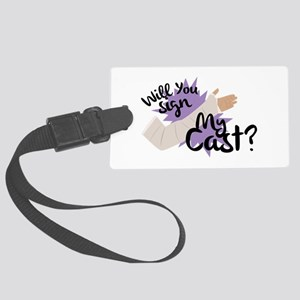 Sign My Cast Luggage Tag