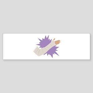 Arm Cast Bumper Sticker