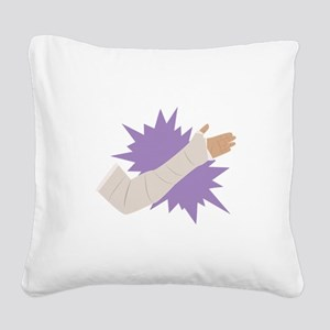 Arm Cast Square Canvas Pillow