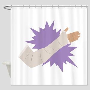 Arm Cast Shower Curtain