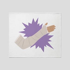 Arm Cast Throw Blanket