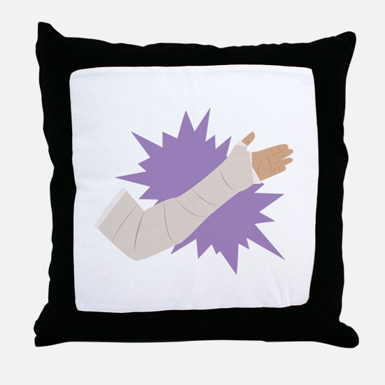 Arm Cast Throw Pillow