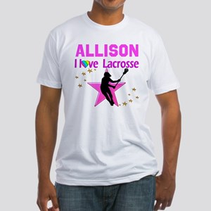 LACROSSE PLAYER Fitted T-Shirt