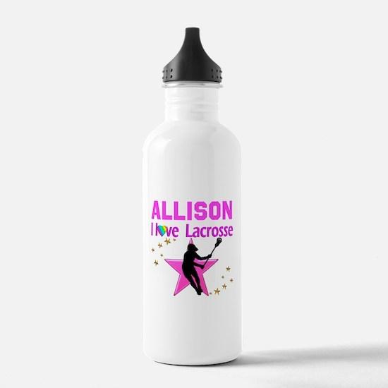 LACROSSE PLAYER Sports Water Bottle
