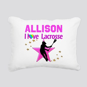LACROSSE PLAYER Rectangular Canvas Pillow