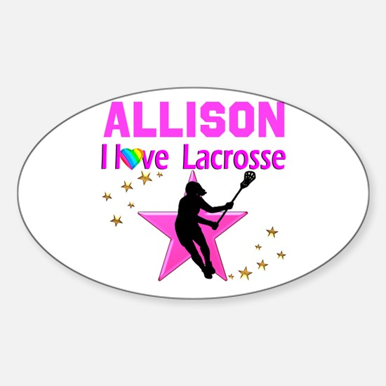LACROSSE PLAYER Sticker (Oval)