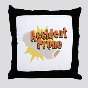 Accident Prone Leg Throw Pillow