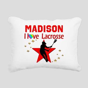 LACROSSE PLAYER Rectangular Canvas Pillow