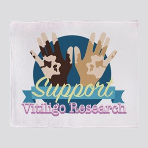 Support Vitiligo Research Throw Blanket