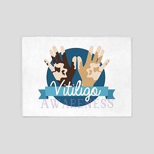 Vitiligo Awareness 5'x7'Area Rug