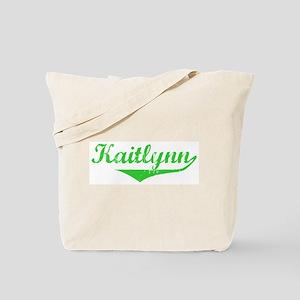 Kaitlynn Vintage (Green) Tote Bag