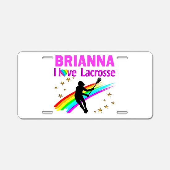 LACROSSE PLAYER Aluminum License Plate