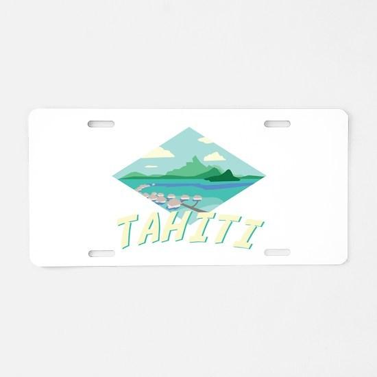 Tahiti Aluminum License Plate