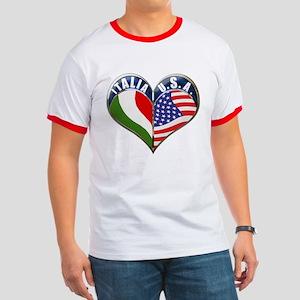 Italian American T-Shirts Ringer T