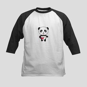 Cute Panda with rice bowl Baseball Jersey
