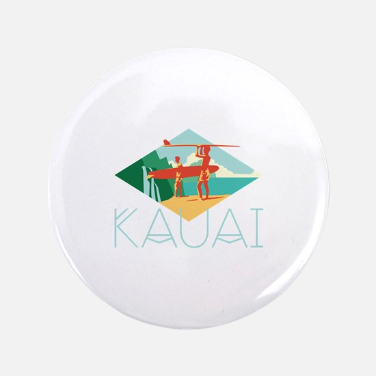 Kauai Surfers Button