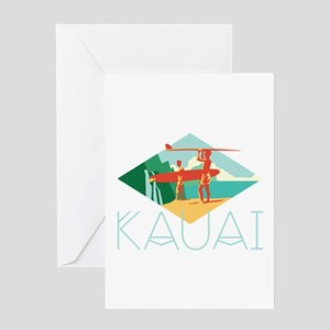 Kauai Surfers Greeting Cards