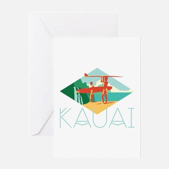Kauai Surfers Greeting Cards