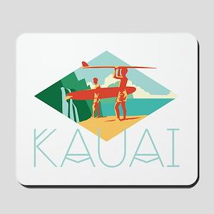 Kauai Surfers Mousepad
