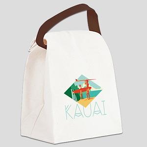 Kauai Surfers Canvas Lunch Bag