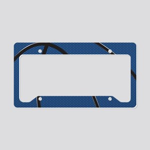 Blue and Black Basketball License Plate Holder