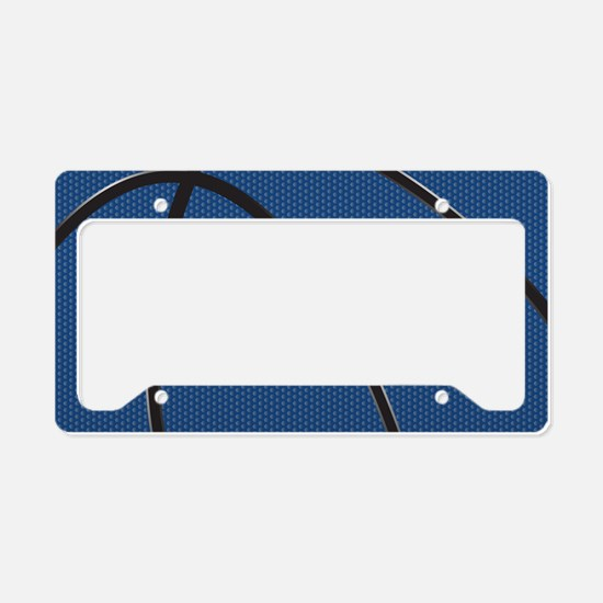 Blue and Black Basketball License Plate Holder